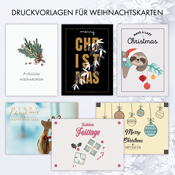 Druckvorlagen für Weihnachtskarten