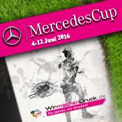 WIRmachenDRUCK ist auch 2016 Druckpartner des MercedesCup