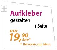 Aufkleber günstig gestalten lassen - xeaven.de - nur 19,90 Euro
