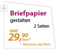 Briefpapier günstig gestalten lassen - xeaven.de - nur 29,90 Euro