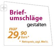 Briefumschläge günstig gestalten lassen - xeaven.de - nur 29,90 Euro