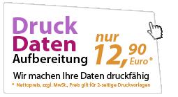 Wir machen Ihre Daten Druckfähig - nur 12,90 Euro zzgl. MwSt.