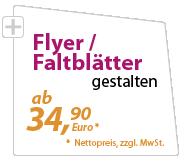 Flyer günstig gestalten lassen - xeaven.de - ab 34,90 Euro