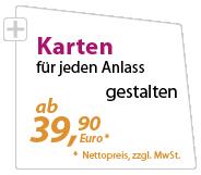 Karten günstig gestalten lassen - xeaven.de - ab 39,90 Euro