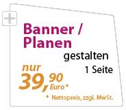 banner und Planen günstig gestalten lassen - xeaven.de - nur 39,90 Euro