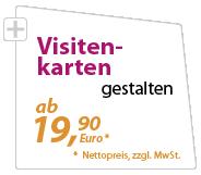 Visitenkarten günstig gestalten lassen - xeaven.de - ab 19,90 Euro