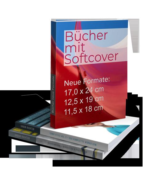 Neue Formate bei Büchern mit Softcover bestellbar
