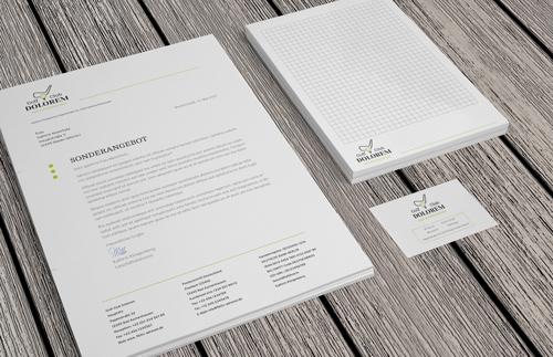 Briefbpapier, Briefblätter oder Briefbogen drucken lassen bei www.deine-hausdruckerei.de