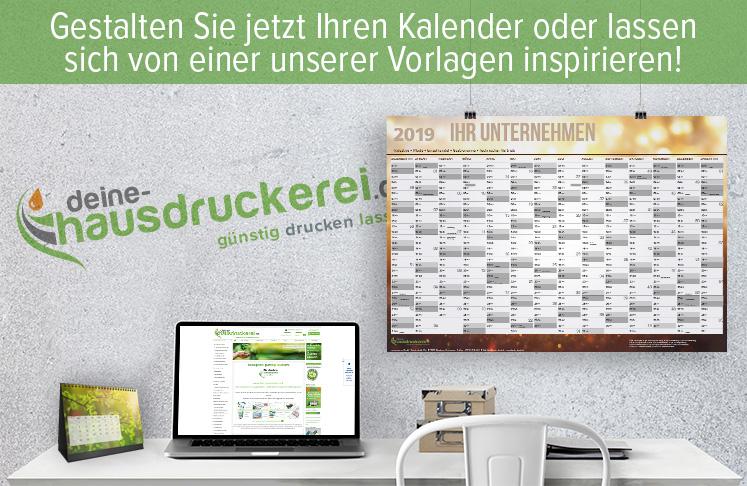 Gestalten Sie jetzt Ihren Kalender kostenlos bei deine-hausdruckerei.de