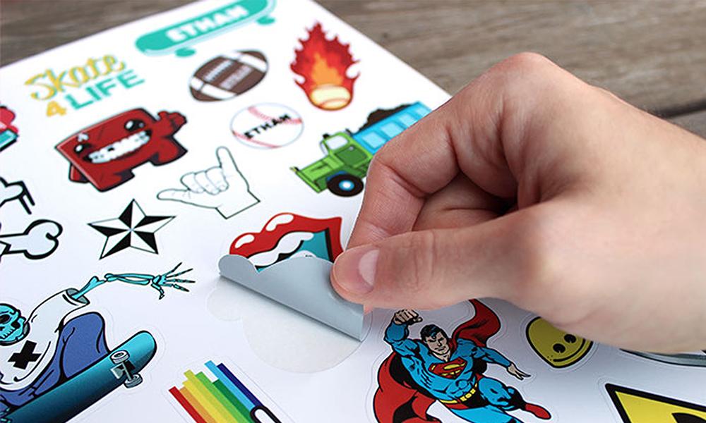 Stickerbögen drucken lassen bei www.deine-hausdruckerei.de in Göppingen!