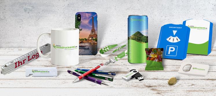 Werbemittel günstig drucken lassen bei www.deine-hausdruckerei.de