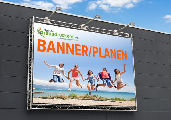 Banner und Planen für Werbung drucken lassen, Baugerüste und Veranstaltungshinweis günstig drucken lassen bei www.deine-hausdruckerei.de