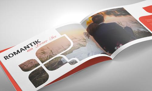 Broschüren DIN A4 quer mit Rückendrahtheftung