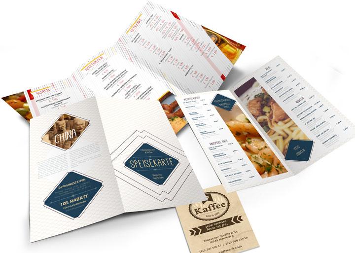 Druckprodukte für die Gastronomie bei www.deine-hausdruckerei.de drucken lassen