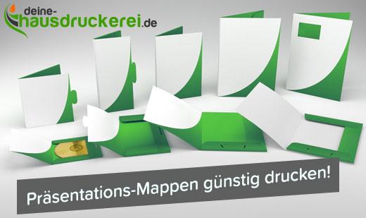Mappen online günstig drucken lassen bei www.deine-hausdruckerei.de