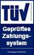 TÜV Geprüftes Zahlungssystem Logo
