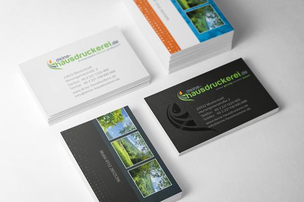 Visitenkarten drucken bei www.deiene-hausdruckerei.de
